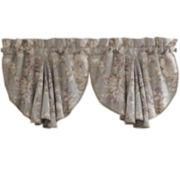 Croscill Classics® Lavender and Gray Floral Rod-Pocket Valance