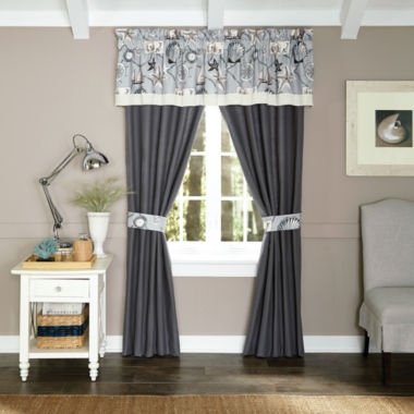 jcpenney.com | Croscill Classics® Sandy Cove 2-pk. Rod-Pocket Curtain Panels