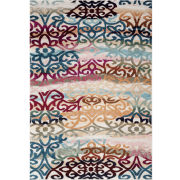 World Rug Gallery Loft Scroll Rectangular Area Rug