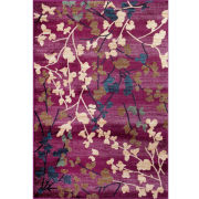 World Rug Gallery Loft Blossoms Rectangular Accent Rug