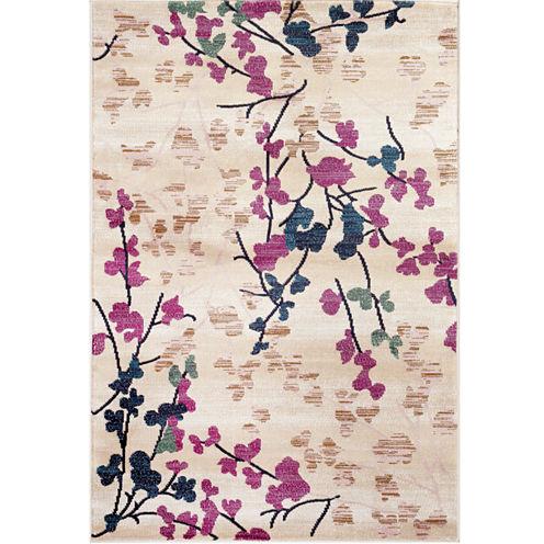"Loft Blossoms 3'3""x5' Rectangle Rug"