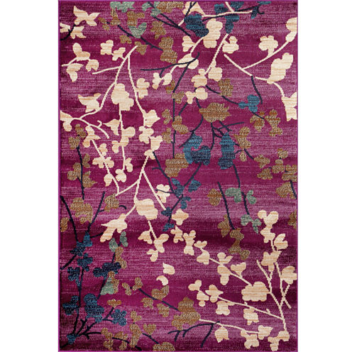 Loft Blossoms Rectangle Rug