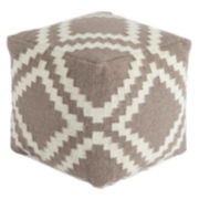 Signature Design by Ashley® Wool Geometric Pouf