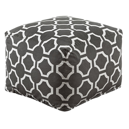 Signature Design by Ashley® Printed Geometric Gray Pouf