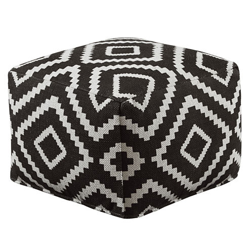Signature Design by Ashley® Woven Geometric Pouf