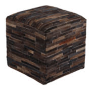 Signature Design by Ashley® Cowhide Pouf