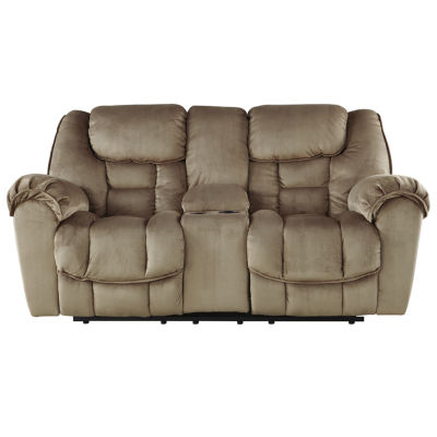 Signature Design by Ashley® Jodoca Glider Reclining Loveseat with Console