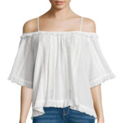 i jeans by Buffalo 3/4-Sleeve Cold-Shoulder Blouse
