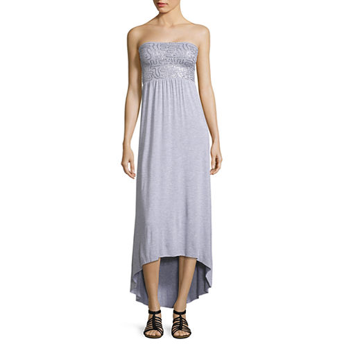i jeans by Buffalo Strapless Sequin Maxi Dress