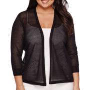 Worthington® Essential 3/4-Sleeve Open Cardigan - Plus