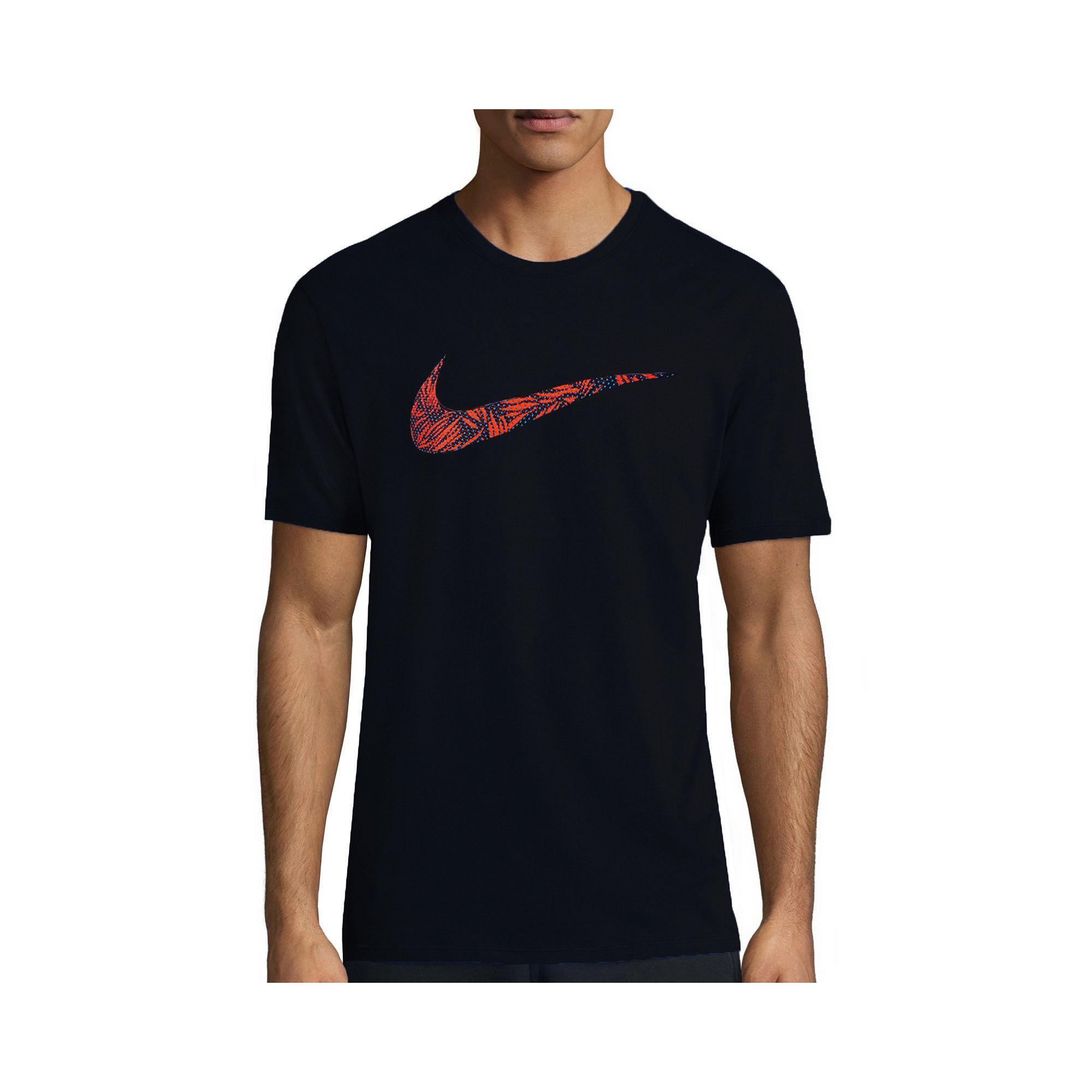 e272220c ... UPC 666032869789 product image for Nike Palm Print Swoosh Tee |  upcitemdb.com ...