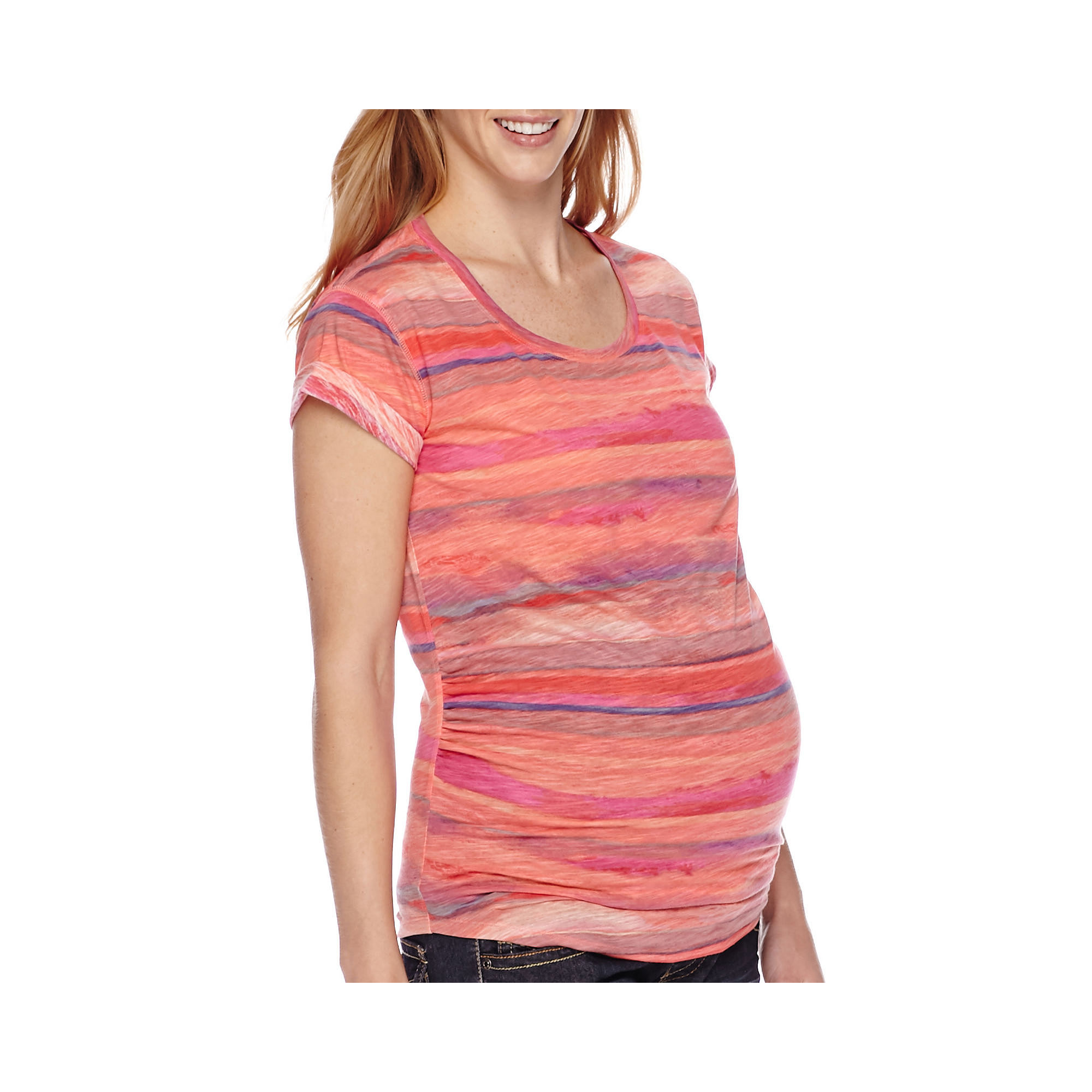 a.n.a Maternity Short-Sleeve Boyfriend Tee plus size,  plus size fashion plus size appare