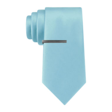 jcpenney.com | JF J. Ferrar® Solid  Tie and Tie Bar Set - Slim