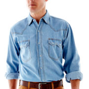 Ely Cattleman Bleached Denim Work Shirt