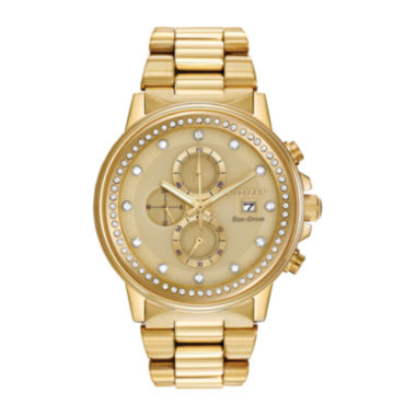 jcpenney.com | Citizen® Eco-Drive® Nighthawk Mens Gold-Tone Chronograph Watch FB3002-53P