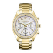 Caravelle New York® Womens Gold-Tone Chronograph Watch