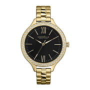 Caravelle New York® Womens Slim Gold-Tone Bracelet Watch