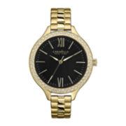 Caravelle New York® Womens Slim Gold-Tone Bracelet Watch
