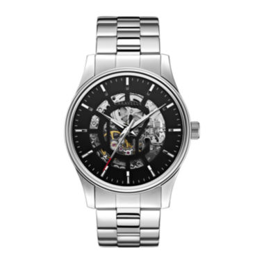 jcpenney.com | Caravelle New York® Mens Automatic Skeletone Dial Bracelet Watch 43A124