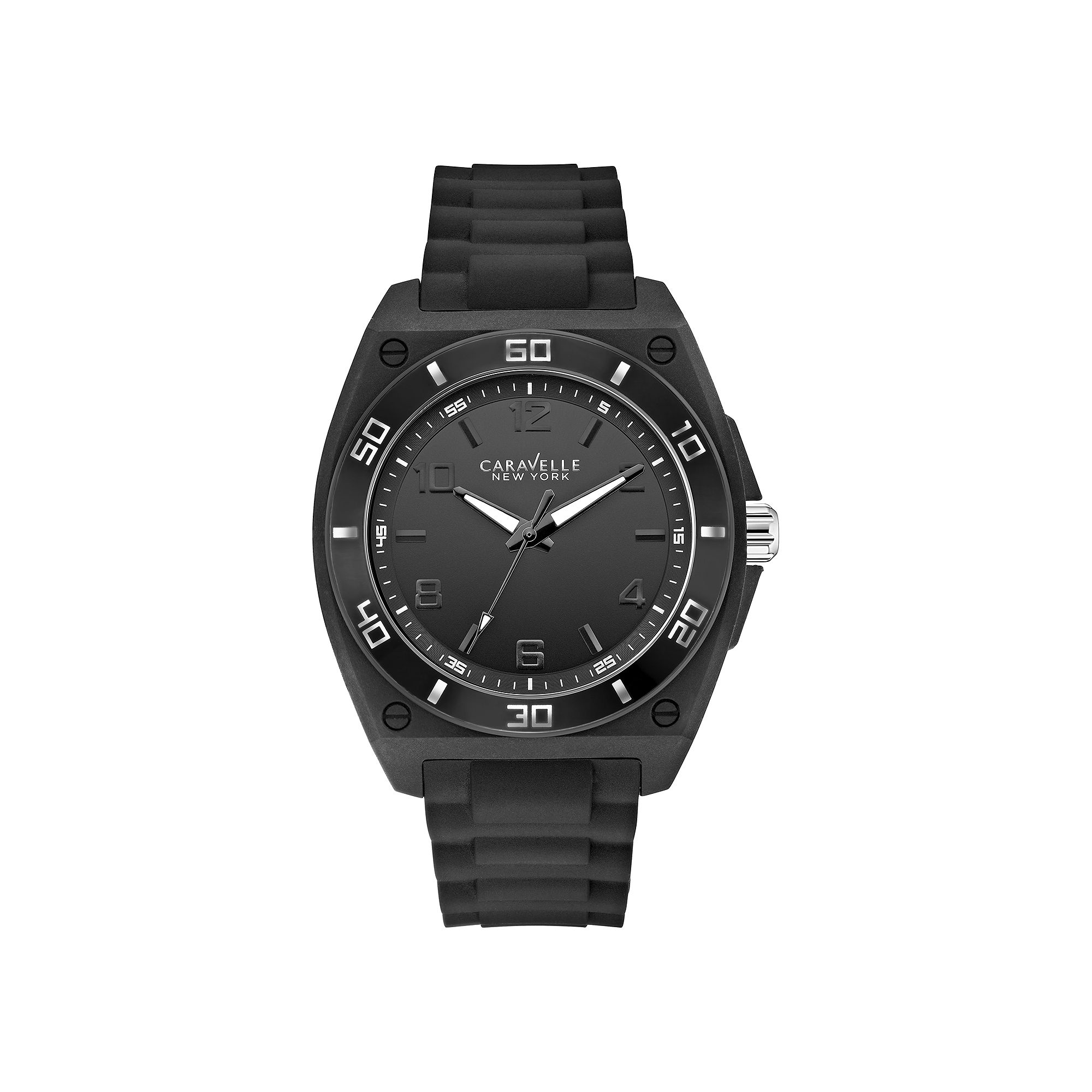 Caravelle New York Mens Black Strap Watch 43A127