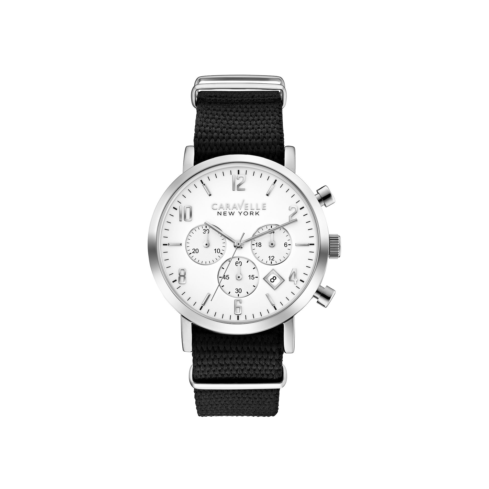 Caravelle New York Mens Round Case Chronograph Watch 43B137