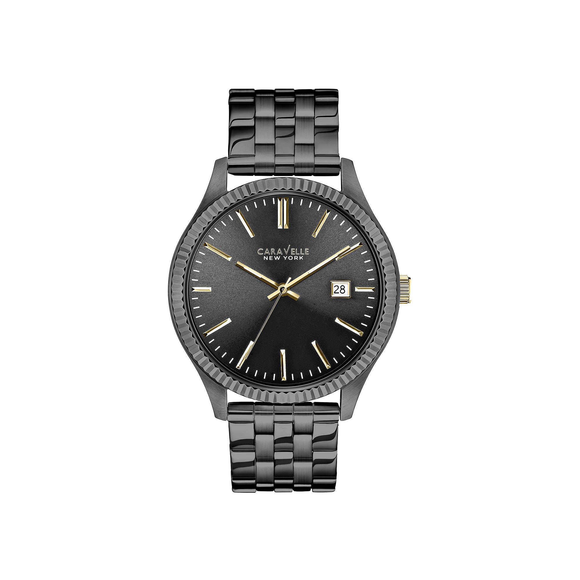 Caravelle New York Mens Gunmetal Bracelet Watch 45B120