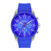 Caravelle New York® Mens Blue Strap Chronograph Watch