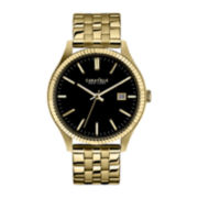 Caravelle New York® Mens Gold-Tone Bracelet Watch