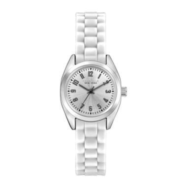 jcpenney.com | Caravelle New York® Womens White Silicone Strap Sport Watch 43L176