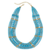 Mixit™ Aqua Seed Bead Necklace