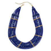 Mixit™ Blue Seed Bead Necklace