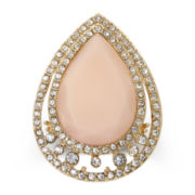 Mixit™ Pink Teardrop Stretch Statement Ring