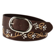 Mixit™ Floral Perforated Leather Belt