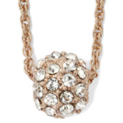Vieste® Crystal Fireball Necklace