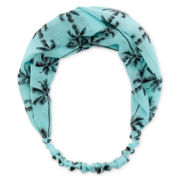 Carole Blue Palm Tree Headwrap