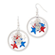 Carole Twisted Hoop Earrings w/ Starry Drops