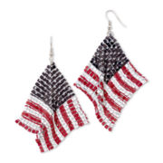 Carole Red, White & Blue Flag Earrings