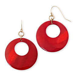 Mixit™ Red Gypsy Hoop Earrings