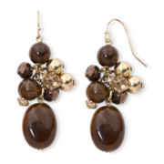 Mixit™ About Town in Brown Cluster Earrings