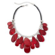 Mixit™ Layered Red Shell Teardrop Necklace