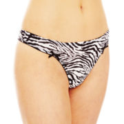 Flirtitude® Ruched Microfiber Thong Panties
