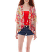 Decree® Oversized Cardigan, Print Cropped Cami or Shorts
