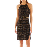 Bisou Bisou® Belted Halter Dress