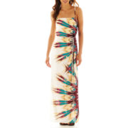 Bisou Bisou® Sleeveless Belted Maxi Dress
