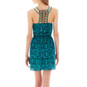 Trixxi® Strappy Racerback Aztec Print Dress