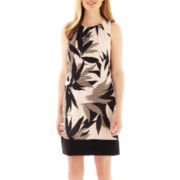 Worthington® Sleeveless Pleated Shift Dress