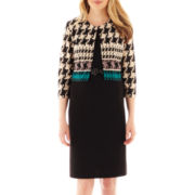 Danny & Nicole® Sheath Dress with Houndstooth Jacket