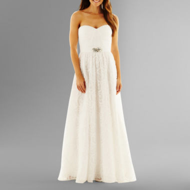 jcpenney.com | Simply Liliana Strapless Rosette Wedding Gown