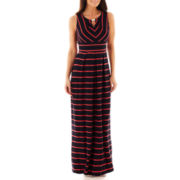 Liz Claiborne Sleeveless Striped Maxi Dress