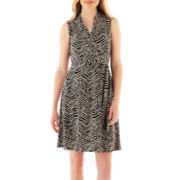 Liz Claiborne® Sleeveless Wrap Dress